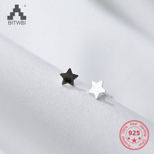 Korea New Style 925 Sterling Silver Simple Cute Drawing Color Matching Star Lover Stud Earring Fashion Jewelry for Womem