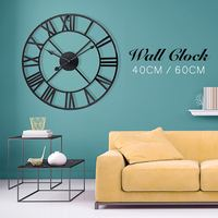 40/60cm New Fashion Modern Round Metal Wall Clock Soldering Process Very Durable For Study Room Offices Living Rooms Cafes Etc