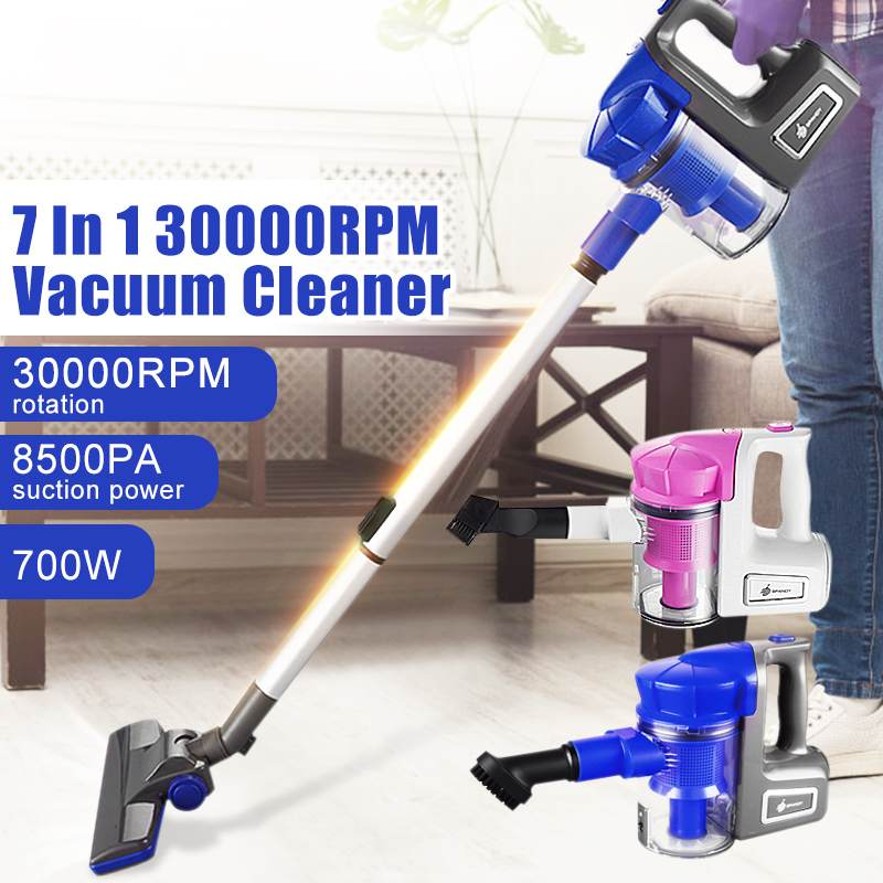 7 in 1 700W Extension Tube 4 Brushes Vacuum Cleaner Handheld Lightweight Floor Carpets Cleaners Household Cleaning Appliances7 in 1 700W Extension Tube 4 Brushes Vacuum Cleaner Handheld Lightweight Floor Carpets Cleaners Household Cleaning Appliances