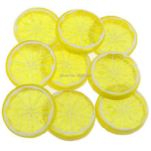 Gresorth 9 PCS Artificial Yellow Lemon Slices Collection Fake Fruits Decoration Photography Props