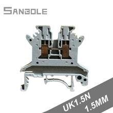 Клеммная колодка uk15n 660 а/15 в квадратный монтажный кабель