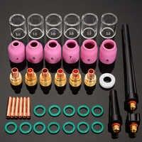40 teile/los Wig-schweißbrenner Collet Gas Objektiv Pyrex Glas Tasse Kit für WP-9/20/25 Schweißen Zubehör tool Kit Set
