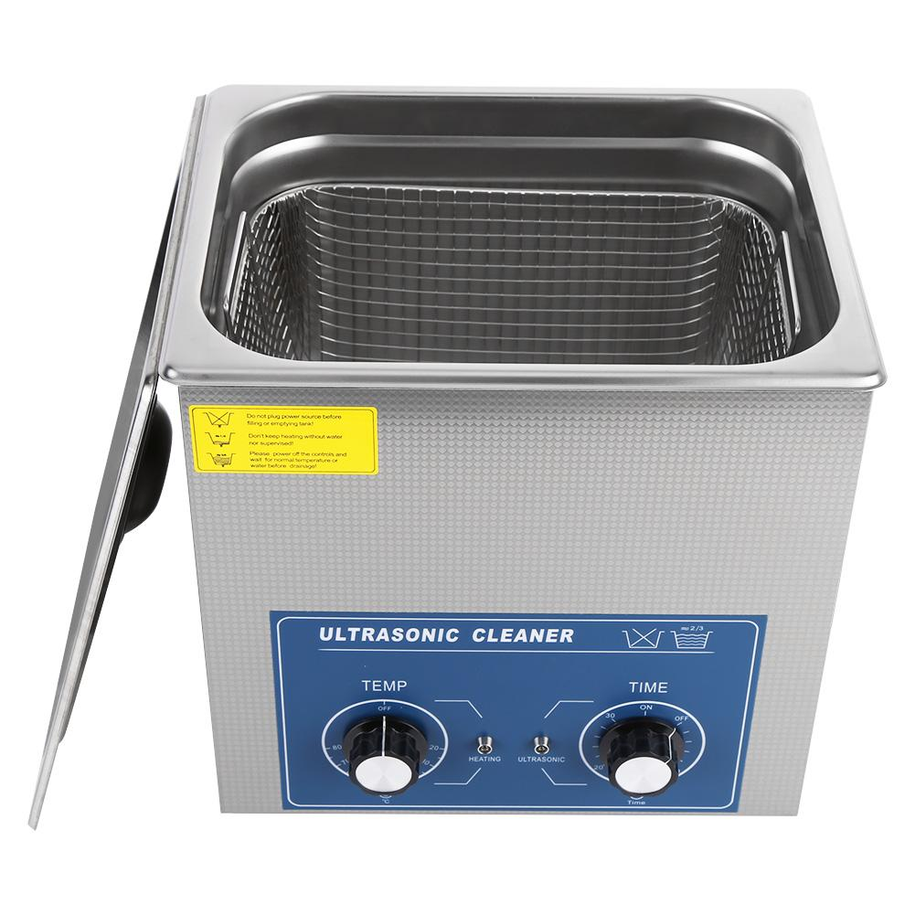 14L 220V Stainless Steel Mechanical Ultrasonic Cleaner Bath Heated Timer Cleaning Tank Machine with Basket For
