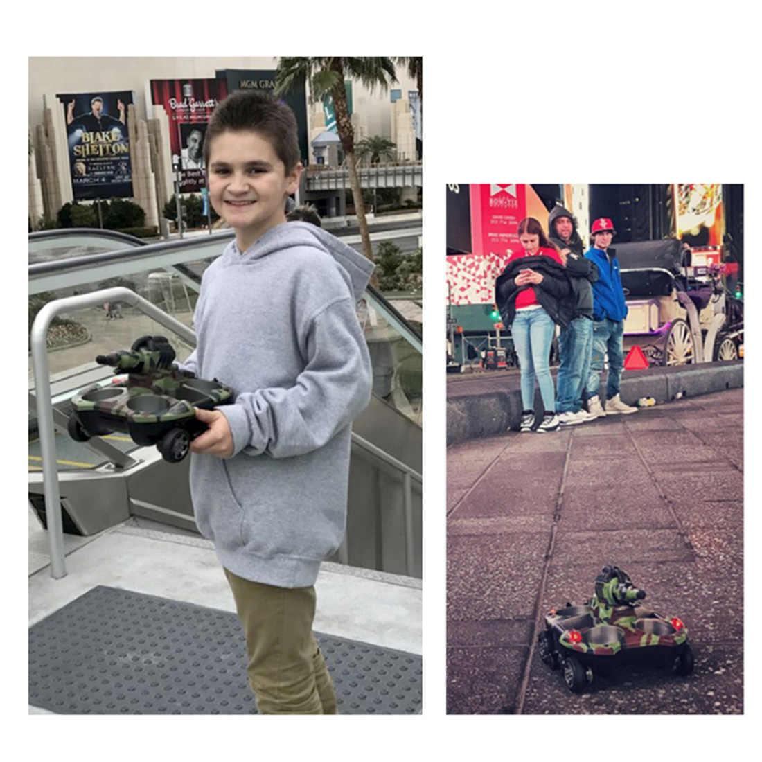 2,4G anfibio RC tanque de rociado de agua RC barco RC coche juguetes para niños al aire libre juego de regalo de verano 2019- de Color de camuflaje