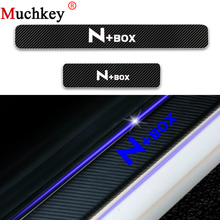 Car Door Sill Plate Protector For Honda N-BOX Welcome Pedal Cover Trim Threshold Guard 4D Carbon Fiber Vinyl Sticker 4Pcs