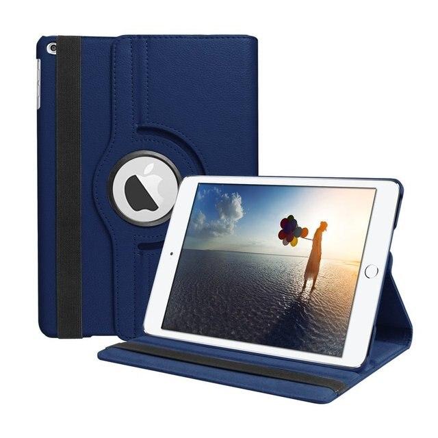360 grados de rotación PU cuero Flip caso de la cubierta para el nuevo iPad 9,7 De 2017 de 2018 5th 6th soporte casos caso a1822 A1823 A1893 A1954