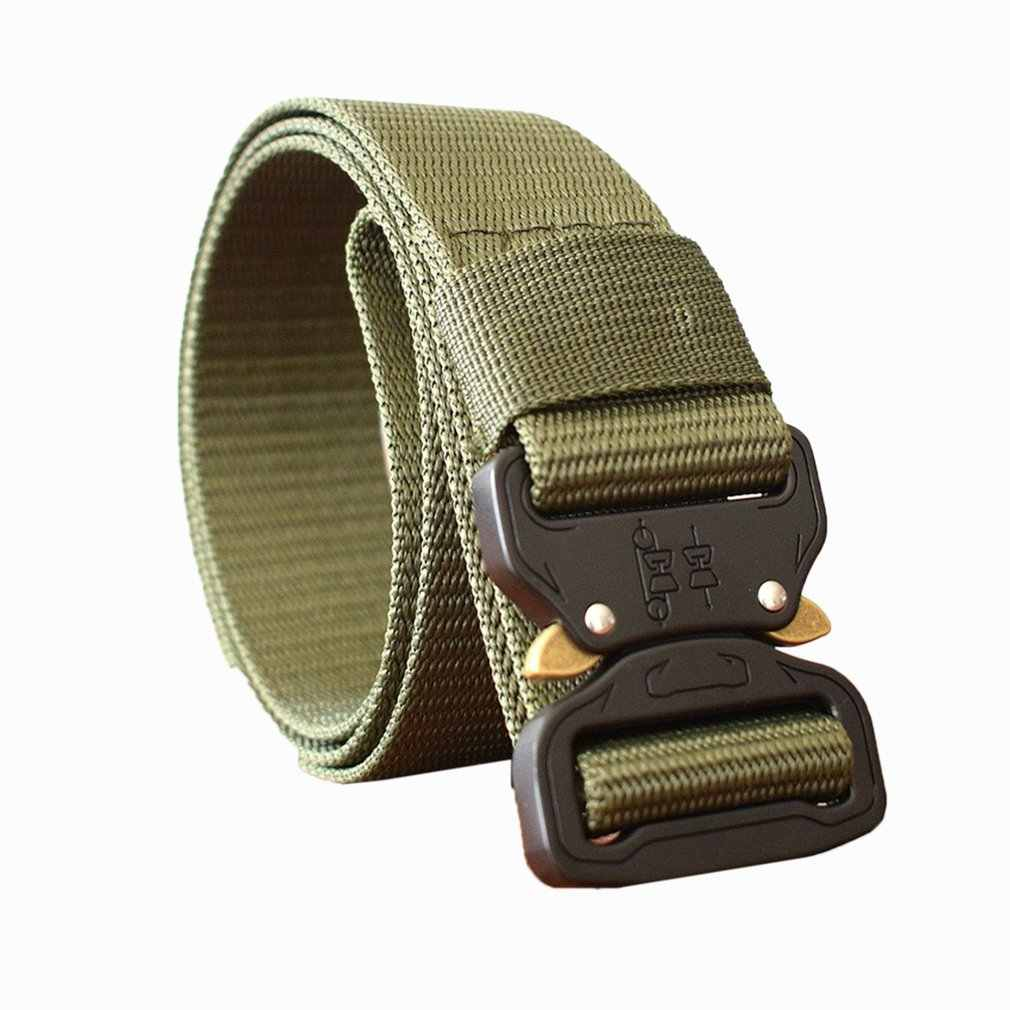 125CM Waist Belt Tactical Nylon Army Military Combat Belts Knock Off Emergency Survival Waist Straps Heavy Duty Belt Hunting Hot