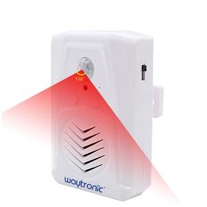 Image 4 - Waytronic Pir kızılötesi hareket sensörü aktif ses kaydedilebilir ses çalar giriş hoşgeldiniz kapı zili mağaza mağaza için Usb ile