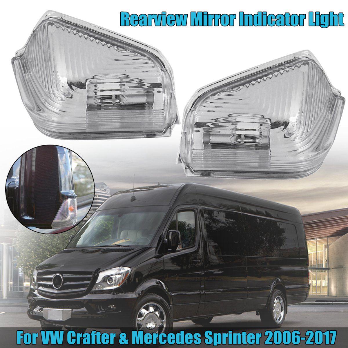 2x espejo intermitente intermitentes set Mercedes Sprinter VW Crafter izquierda derecha