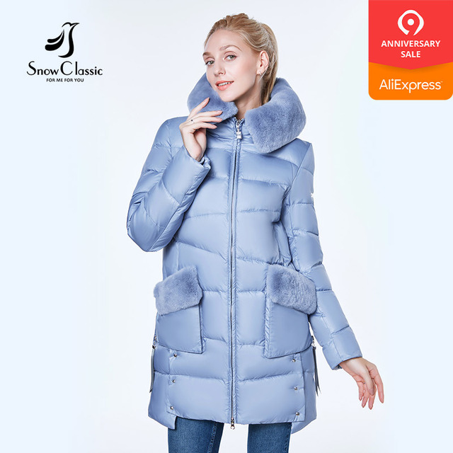 Kar Klasik 2018 ceket kadın camperas mujer abrigo invierno ceket kadın parkı Rex tavşan saç bir şapka Giymek Rüzgar Geçirmez kalın