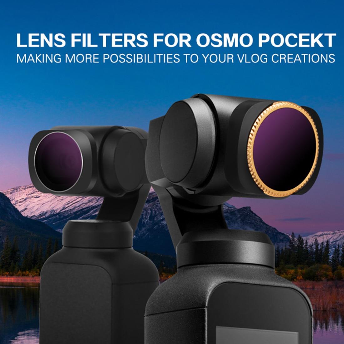 6 pièces filtre d'objectif de caméra à cardan MCUV CPL ND4/8/16/32 pour poche DJI OSMO