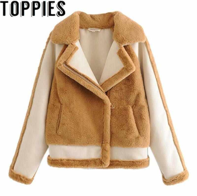 440b0c21338 2019 Winter Women Faux Rabbit Fur Suede Jacket Winter Warm Thick Korea Chic  Fluffy Fur Coat