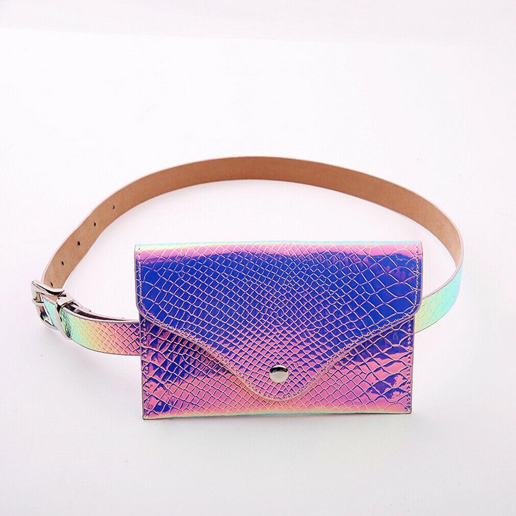 2019 Fashion Leather Waist Bag Chest Bag For Women Laser Messenger Shoulder Bag Waterproof Mini Phone Money Bags Elegant Soft