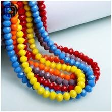 Китай бисер завод многоцветный 4 мм 6 мм Rondelle Свободные бусины стеклянные аксессуары для изготовления ювелирных изделий