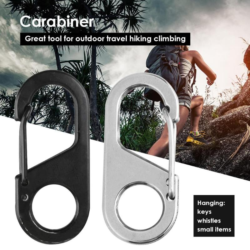 Carabiner 8 Shape Carabiner Key Chain Ring Outdoor Climb Hanger Buckle Snap Hook Clip Outdoor Tool