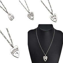 Hot Selling Vintage Necklace Women Men Gothic Ouija Shape Board Heart Pendant Chain Necklace Jewelry Halloween Gift Unisex(China)