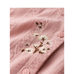 Image 4 - Inman verão turn down collar bordado literário retro tudo combinado casual magro manga curta camisa feminina