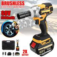68V 6000mAh Rechargeable Battery Brushless Cordless Electric Impact Socket Wrench Car Home Dual Speed Hand Drill Power Tools