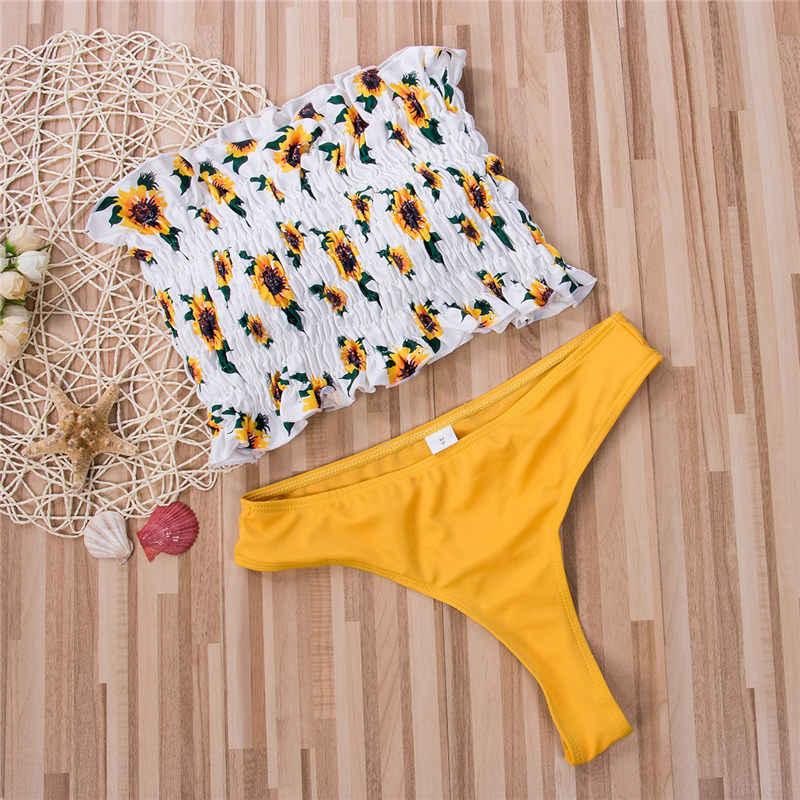 Japanese beach Underwears Brief Set Sexy bra Sets 2019 White/yellow Cute Lolita Bra Pierced Kawaii Women cotton suit