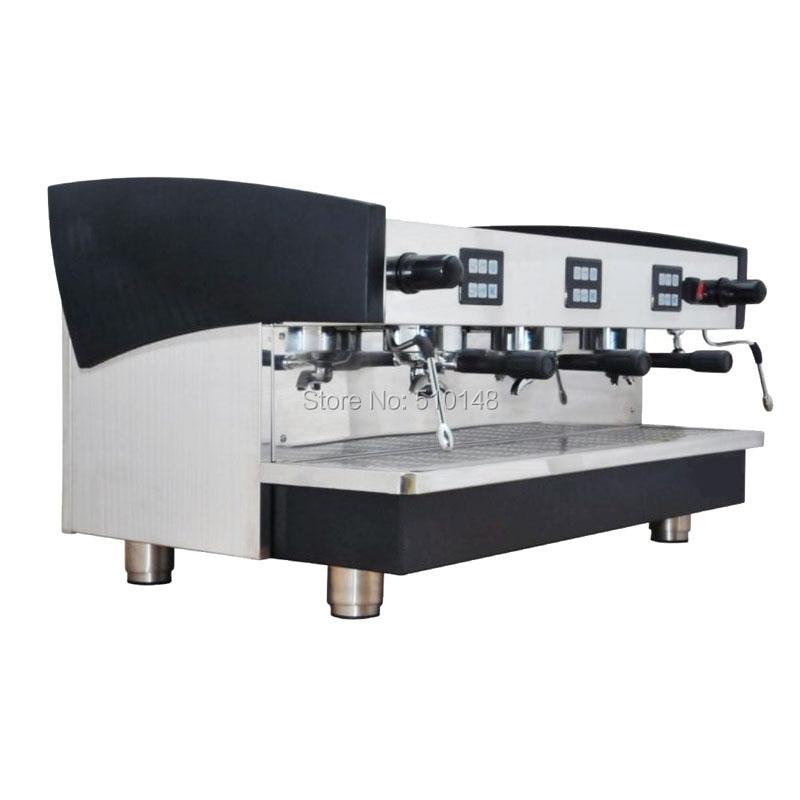 KT-16.3 en gros 3 groupe professionnel machine à café commerciale expresso machine café machine café équipement de traitement