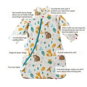 Image 5 - Childrens Fall And Winter Thickened Cotton Flannel Sleeping Bag Infant Long Sleeves Stroller Warm Cartoon Sleeping Bag