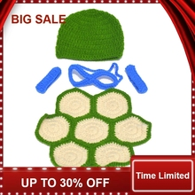 Photo Props Crochet Knit Baby Cartoon Costume Ninja Turtle Style Studio Shooting Outfits Clothes
