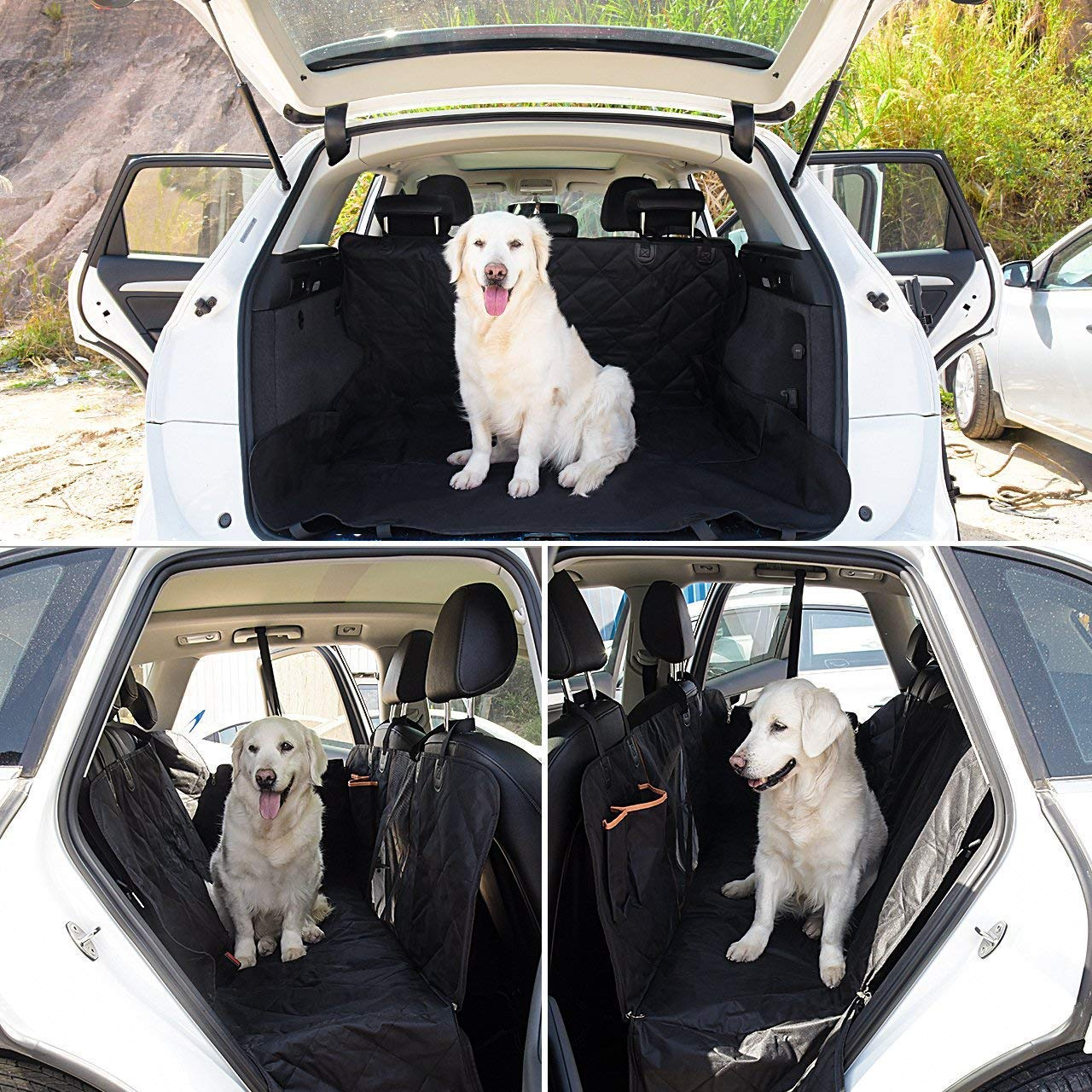 Pet Seat Cover Dog Car Seat Cover With Mesh Viewing