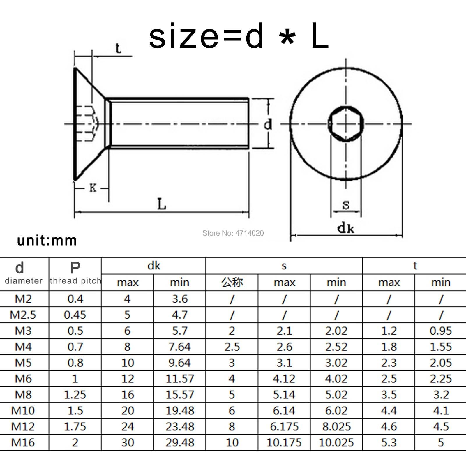 45 Thread Size M2 5-0 Alloy Steel Socket Head Screw
