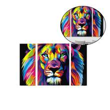5D DIY Diamond Embroidery Colorful Lion Tiger Diamond Painting Cross Stitch Full Square Rhinestone Mosaic Decoration(China)