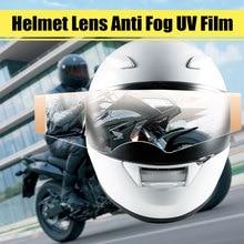 Moto Universale Clear Scudo Casco Visiera Inserto Lente Anti-Nebbia UV Pellicola