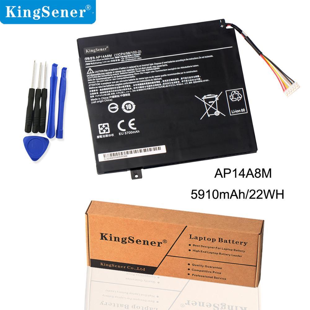 KingSener AP14A8M Batterie Acer Iconia Tab 10 Batterie Remplacement A3-A20 A3-A20FHD SW5-011 SW5-012 AP14A8M AP14A4M 5910 mAh