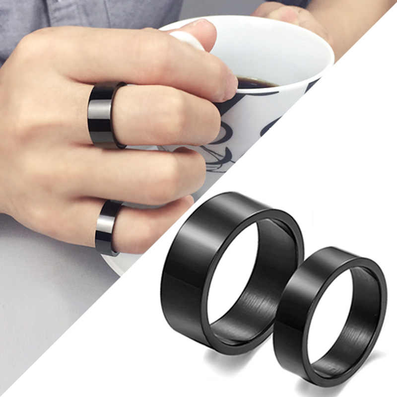 Simple Titanium Black Hot Sale Gifts Graceful 2019 New Arrival Ring 1PC Allergy Free Fashion Men's Preferred Party