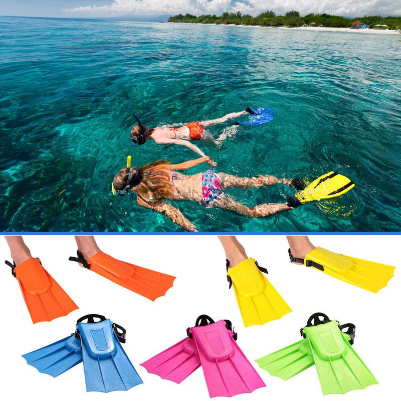 1Pair Swimming Fins Adult Adjustable Snorkeling Foot Flipper Diving Fins Beginner Swimming Equipment Portable Shoes For Swimming(China)