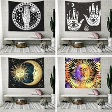 India Mandala Tapestry Wall Hanging Tarot Ouija Sun Moon Psychedelic Macrame Hippie Boho Headboard Cloth