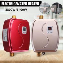 3800 W/3400 W Elektrische Wasser Heizung Instant Tankless Wasser Heizung 110 V/220 V 3.8KW Temperatur display heizung Dusche Universal
