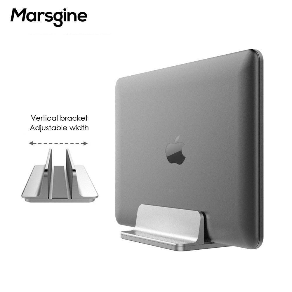 Aluminum Vertical Laptop Stand Adjustable Desktop Holder For MacBook Notebooks