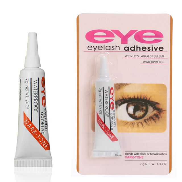 1PC 7g Clear/Black Adhesive Eyelash Glue Waterproof False Eyelashes Makeup Eye Lash Glue Beauty Cosmetic Tools TSLM2 2