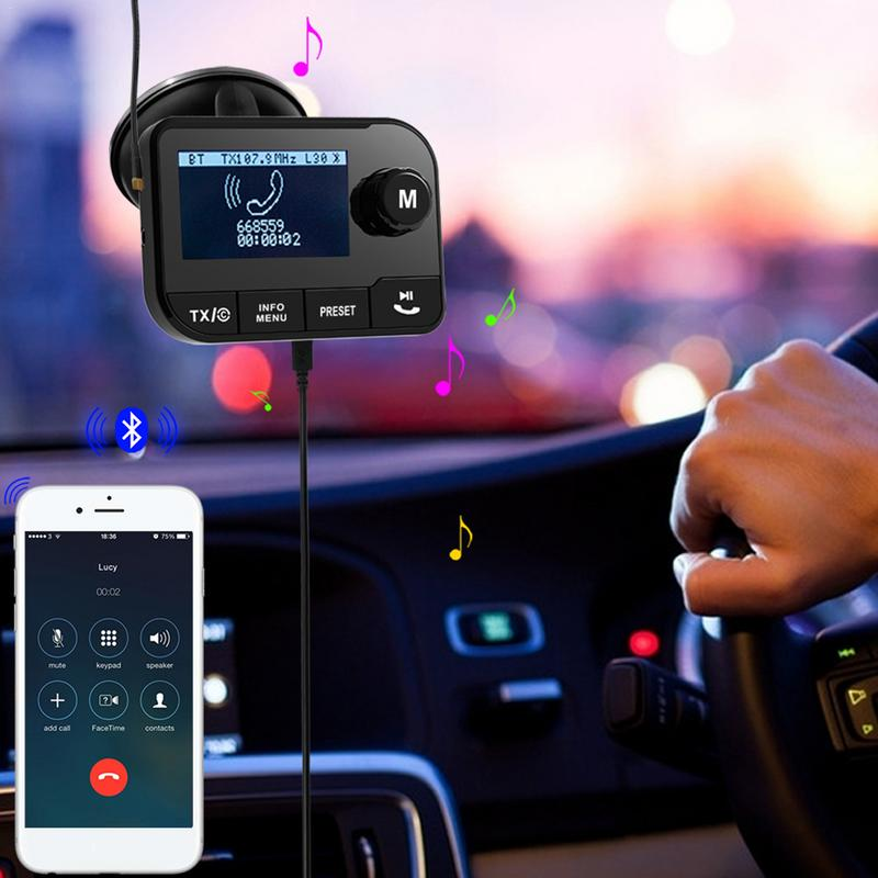 Adaptateur Radio numérique Portable transmetteur FM récepteur Bluetooth mains libres voiture lecteur de musique MP3 adaptateur avec fente TF