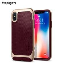 Защитный чехол Spigen для iPhone X Neo Hybrid цвет бургунди/057CS22168/100/50