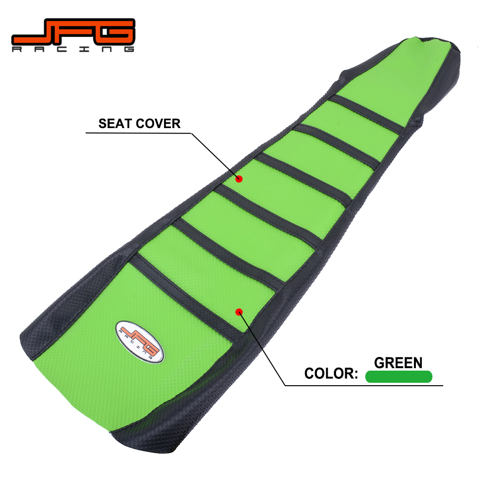 US $29 14 14% OFF Black and Green Rubber Striped Gripper Soft Motorcycle  Seat Cover For KAWASAKI KLX250 KLX300 KLX 250 300 1994 2007 Dirt Bike on