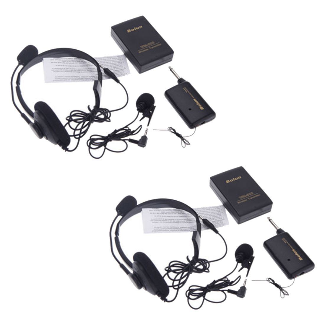 2x Revers Draadloze Microfoon Afstandsbediening Microfoon Systeem Kit Fm Zender Ontvanger