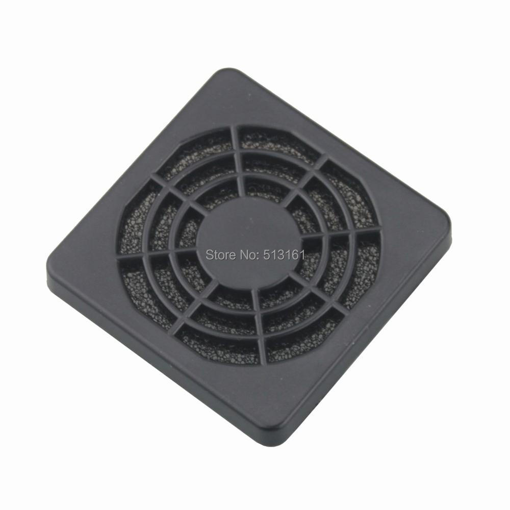 100 pieces lots Gdstime 5CM 50MM PC Computer Fan Cooling Dustproof Dust Filter Shield Case Plastic