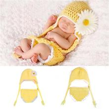 Cute Country Style Childrens Knit Set Baby Photography Photo African Chrysanthemum Caps Props