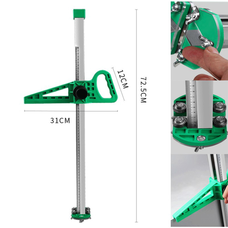 Stainless Steel Manual Gypsum Board Cutter Hand Push Drywall Cutting Roller Type Tool With 2 Blades 20-600mm Cutting Range