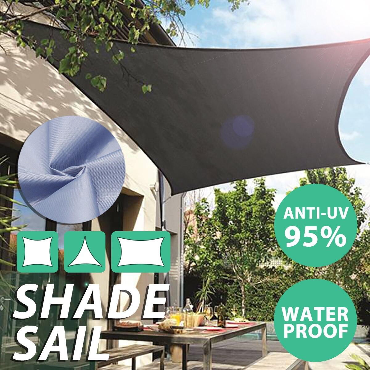 3 Shape Sun Shade Sail Canopy Patio Garden Awning Shelter Waterproof + Free Rope