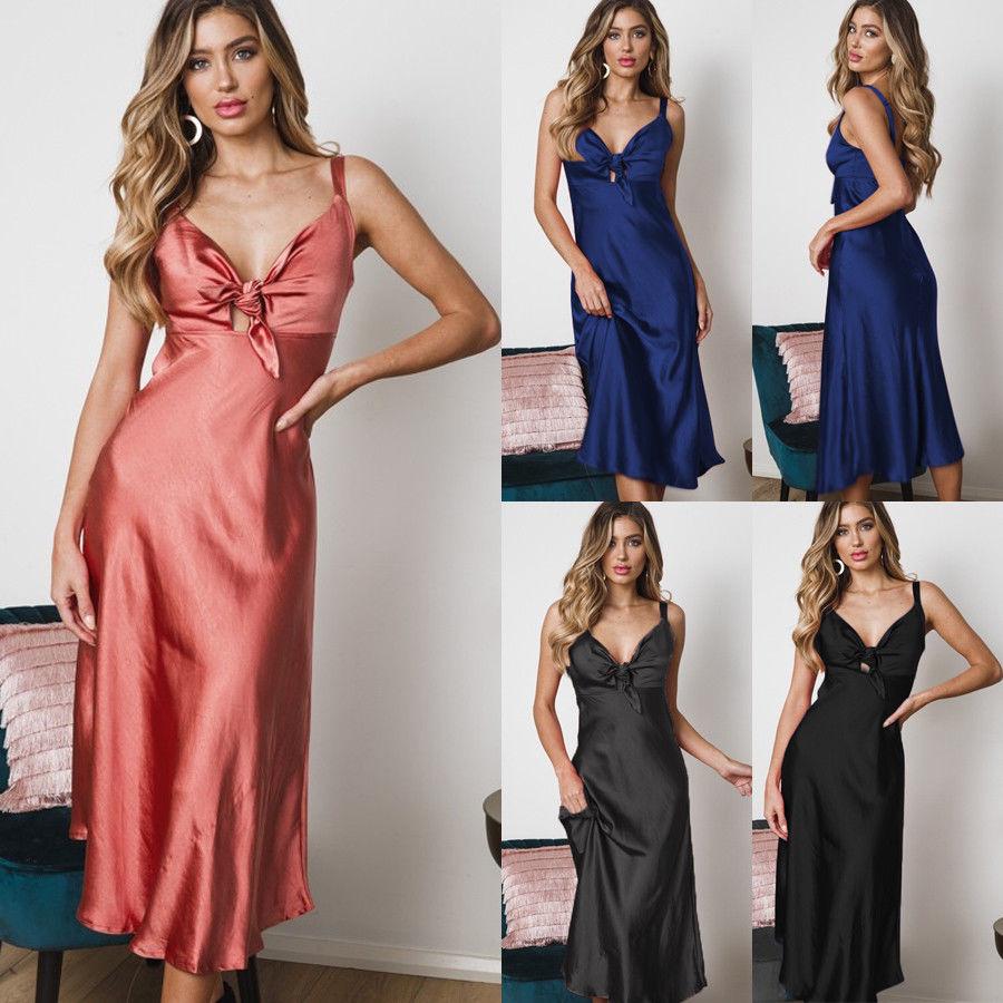 Hirigin 2019 Women Sexy Lingerie Dress   Nightgown   Gecelik Women Sleepwear Night Dress Femme Bowknot Soft Silk Bodycon   Sleepshirt