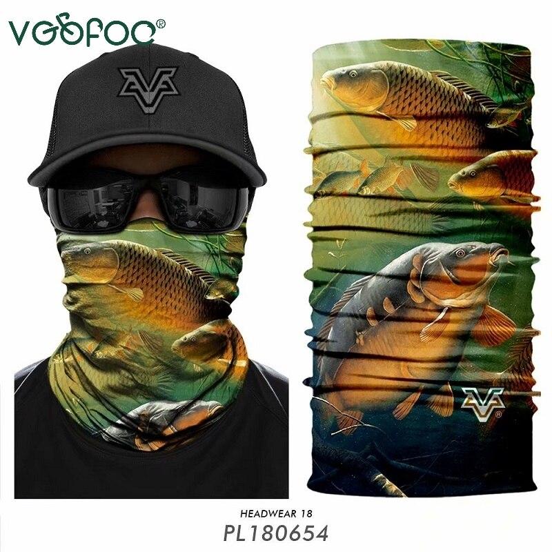 Outdoor Carp Fishing scarfs Headband Bandanas Cycling Scarfs Ciclismo Fish Camo Face Mask Headwear Neck Tube Warmer men