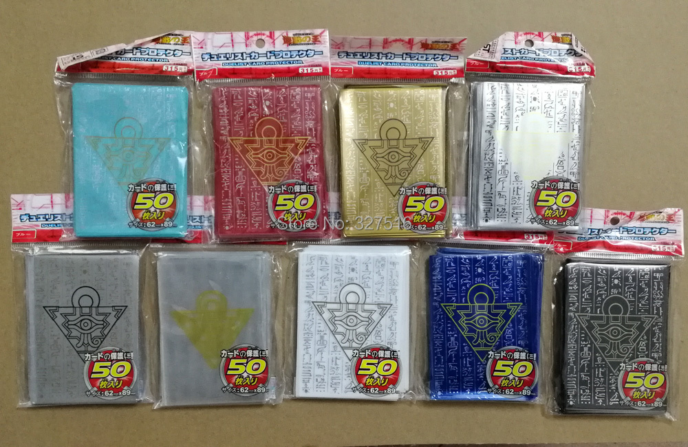 50pcs/set (1 Pack) Yu-Gi-Oh! Cosplay Yugioh Millennium Puzzle Anime Board Games Card Sleeves Card Barrier Card Protector