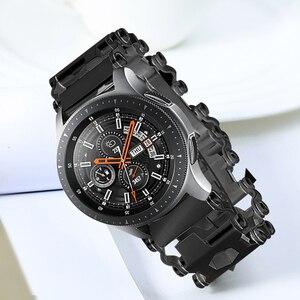 Image 4 - Voor Samsung Galaxy Horloge 46mm Gear S3 Stalen Metalen Tool Horlogeband Horlogeband Armband Voor Garmin Fenix 3 HR 5X Horloge Band