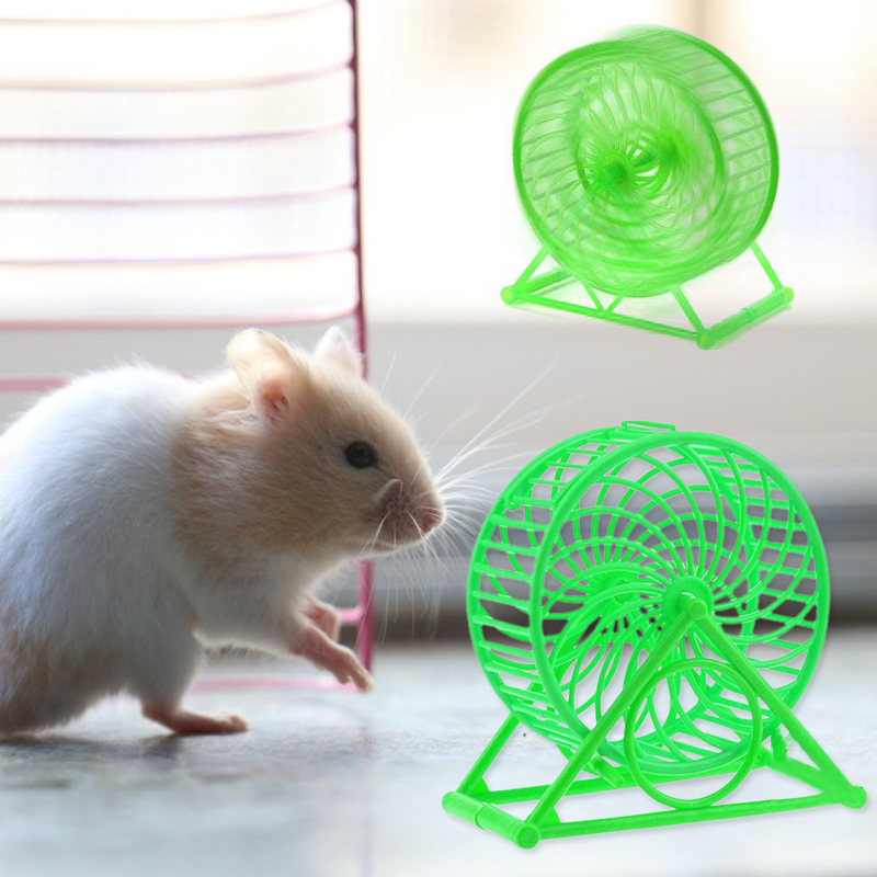 1Pc Hamster Sport Running Wheel Toys Plastic Pet Mice Little Exercise Toys Running Sport Wheel Spinner Toys Pet Supplies